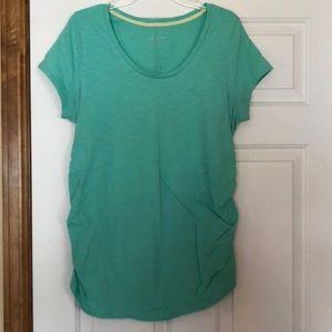 Maternity top, XL, teal